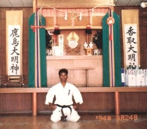 Training at Kyokushinkaikan Honbu, Japan- 1994