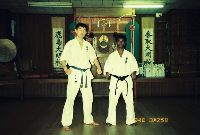 with Sempai Ishida(Honbu Instructor