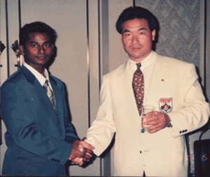 With Kancho Hatsuo Royama-1995
